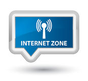 Internet zone (wlan network) prime blue banner button Royalty Free Stock Images