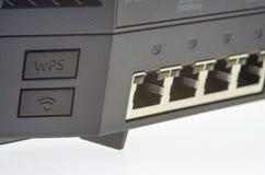Internet-Zugang mit Häfen Stockfotos