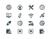 Interneta i dostawcy ikony ilustracja wektor
