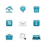 Interneta i sieci ikony. Azzuro serie Zdjęcia Stock