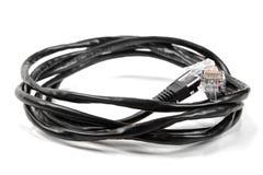 Interneta kabel odizolowywający na bielu obraz royalty free