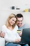 interneta karciany kredytowy zakupy Zdjęcie Stock