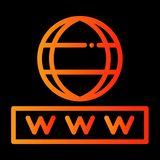 Interneta & ochrony ikona ilustracji