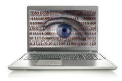 Interneta szpieg Obrazy Stock