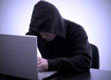 Interneta zbawczy hacker Zdjęcia Royalty Free