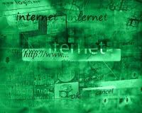 Internetabstrakt begrepp Fotografering för Bildbyråer