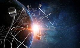Internetanschluss und Telekommunikation stockbild