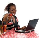 InternetCafe fotografering för bildbyråer