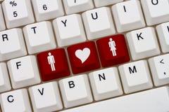 Internetdatummärkningplatser royaltyfri fotografi