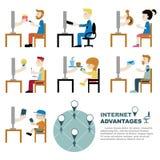 Internetfördel stock illustrationer