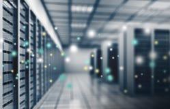 Internetfamiljeförsörjare, datorhall Arkivbilder