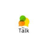 Internetforum, levande kommunikation i real-time Abstrakt symbol som indikerar en konversation eller en dialog eller en diskussio stock illustrationer