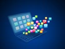 Internetkommunikation och begrepp Fotografering för Bildbyråer
