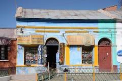 Internetkommunikationer i Uyuni, Bolivia arkivbilder