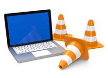 Internetkonstruktionsplats royaltyfri illustrationer