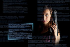 Internetkriminalitätkonzept Lizenzfreies Stockfoto