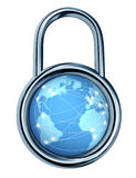 internetlåssäkerhet Arkivbilder
