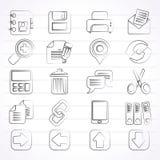 Internetmanöverenhetssymboler Arkivbild