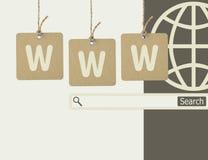 Internetonline-shopping och sökandebegrepp Arkivfoton