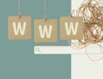 Internetonline-shopping och sökandebegrepp Arkivfoto