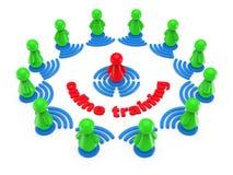 Internetonline-utbildningsbegrepp. Vektor Illustrationer