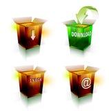 Internetowa ikona dla ściągania i email Obraz Stock