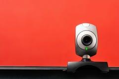 Internetowa kamera na laptopie Zdjęcie Royalty Free