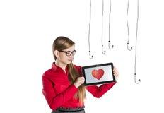 Internetowa miłość Fotografia Stock