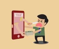 Internetowa przestępca ilustracja wektor