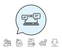 Internetowa wiadomości ikona Gadka lub rozmowa ilustracji