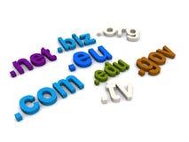 Internetowe domeny Zdjęcie Royalty Free