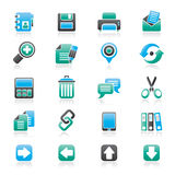 Internetowe interfejs ikony Obraz Royalty Free