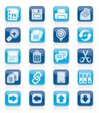 Internetowe interfejs ikony Zdjęcie Royalty Free