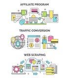 Internetowe marketingu i seo ilustracje Obrazy Stock