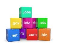 Internetowe nazwy domeny Zdjęcia Stock
