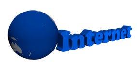 Internetowej sieci i ziemi obracanie, kilka tło zbiory