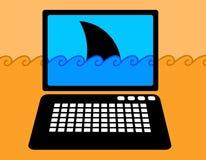 Internetowi niebezpieczeństwa spoofing tożsamości kradzież ilustracja wektor