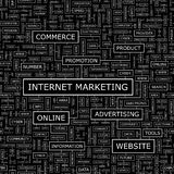 INTERNETOWY marketing Obrazy Royalty Free