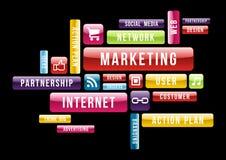 Internetowy marketing chmury teksta pojęcie royalty ilustracja