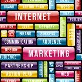 Internetowy Marketingowy technika wzór ilustracji