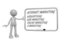 Internetowy marketingu znak Zdjęcia Stock