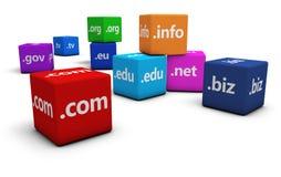 Internetowy nazwy domeny pojęcie Obrazy Royalty Free