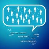 Internetowy networking Zdjęcie Stock