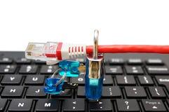 Internetowy ochrony, sieci ochrony pojęcie i, Zdjęcia Royalty Free