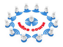 Internetowy onlinego szkolenia pojęcie Fotografia Royalty Free