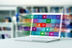 Internetowy oprogramowanie i multimedialny wyszukiwać zdjęcie stock