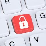 Internetowy pojęcia bezpieczeństwa komputerowego kędziorka symbol fotografia stock