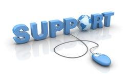 Internetowy poparcie ilustracja wektor