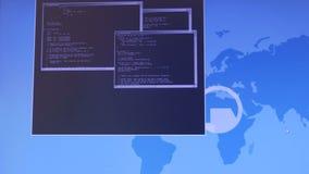 Internetowy przestępstwa pojęcie Hacker pracuje na kodzie zbiory wideo
