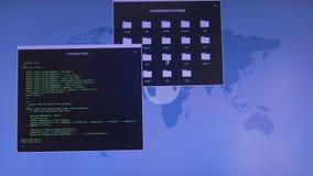 Internetowy przestępstwa pojęcie Hacker pracuje na kodzie Acces zaprzeczał ilustracji